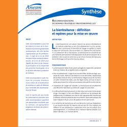 117. Synthèse - recommandations de bonnes pratiques professionnelle, La bientraitance : définition et repères pour la mise en œuvre