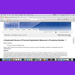 15. A Systematic Review of Financial Exploitation Measures in Prevalence Studies