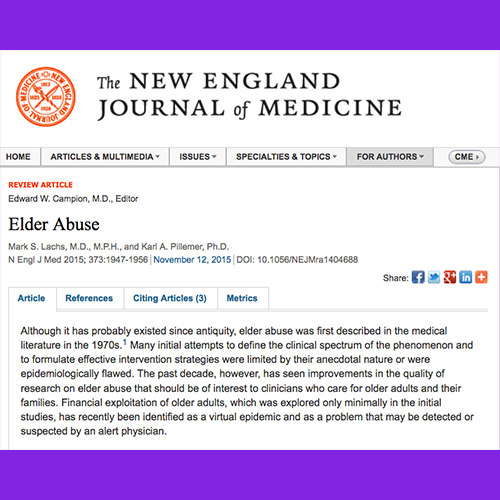 elder abuse journal articles