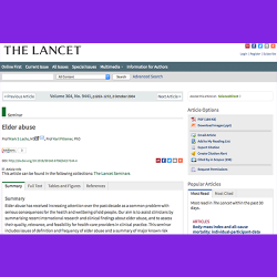 21. Elder Abuse. The Lancet