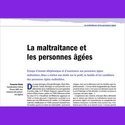 38. La maltraitance et les personnes âgées