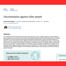 111. Discrimination against older people