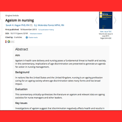 131. Ageism in nursing