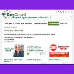 57. Keep Control : Tools and Resources Pack: Safeguarding your finances in later life