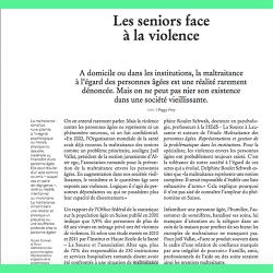 65. Les seniors face à la violence