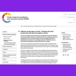 145. Différents en âge, égaux en droits - Catalogue des droits fondamentaux des personnes âgées en Suisse